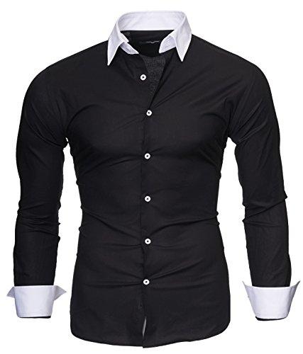 Kayhan Hombre Camisa Mailand, Black M
