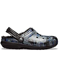 d03d7fcad454c9 Crocs Classic Graphic II Fleece Lined Roomy Fit Clogs Shoes Sandals in  Black   Grey   Blue Camo Print 205324 938  UK…