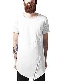 Urban Classics Long Open Edge Front Zip Tee, T-Shirt Homme