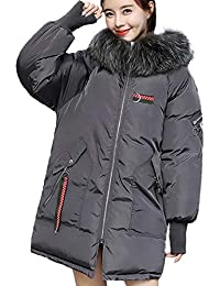 f5a8e644054 Lazzboy Parka Coat Women Faux Fur Hooded Warm Winter Ladies Padded Plain  Outerwear UK 10-