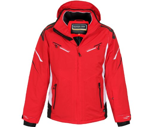 Bergson Herren Skijacke District, fire Check [1332], 28 - Herren