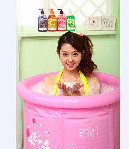 CLG-FLY Umweltschutz im Haushalt nach faltbare Badewanne grün PVC aufblasbare Badewanne Baby Pool, 65 * 65