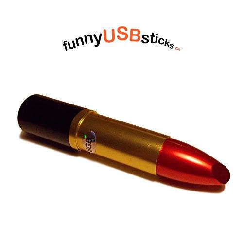 Funnyusbsticks - chiavetta usb a forma di rossetto, 32 gb 8 gb