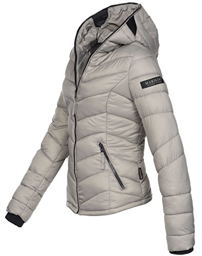Marikoo Damen Jacke Stepp leichte Übergangsjacke Frühjahr Camouflage XS-XXL Grau