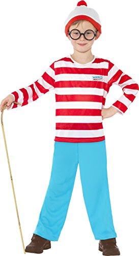 Smiffys Déguisement Enfant, Où Est Charlie?, avec haut, pantalon, lunettes et bonnet, Âge 12+, 39971