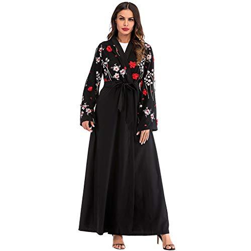 Sannysis Kimono Robe Damen Cardigan Sommer Muslimischer Kleider Frauen Ethnische Roben Abaya Islamischer Muslim Mittlerer Osten Maxikleid Verband Kaftan Vintage Kostüm ()