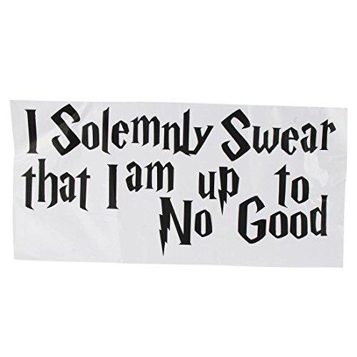 SODIAL (R) etiqueta de la pared Calcomania Cita Juro solemnemente que estoy para nada bueno Harry Potter G080