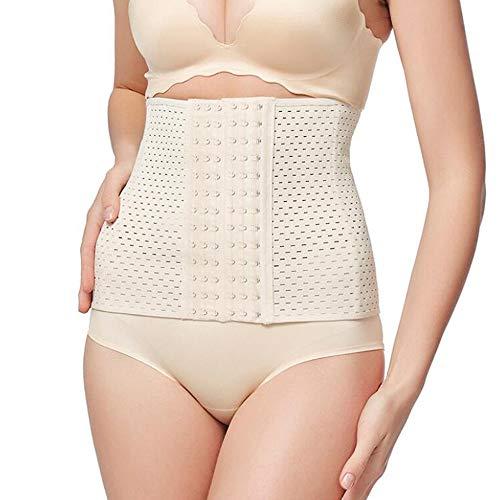 Scrolor Korsetts Bustiers Damen Taille Körper Korsett Body Shaper Bully Gürtel Latex Hollow Design(Khaki,L)