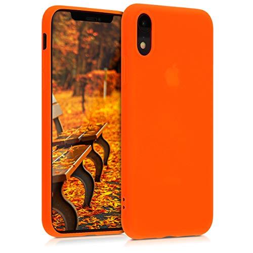 kwmobile Apple iPhone XR Hülle - Handyhülle für Apple iPhone XR - Handy Case in Neon Orange