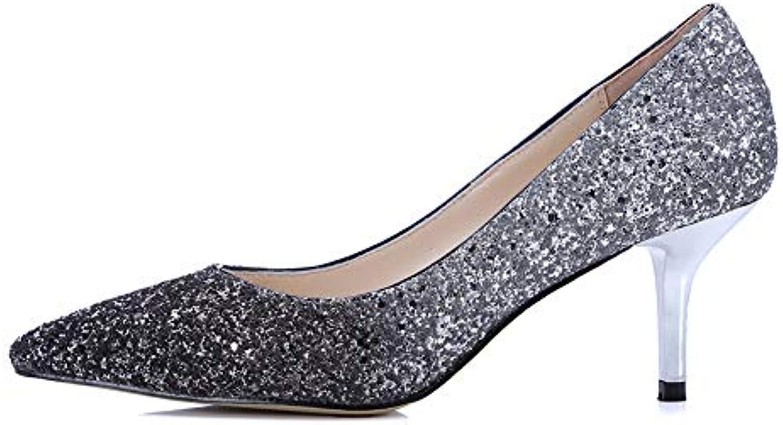 Chaussures De Soirée Soirée De Pour Femmes Chaussures Paillettes Pointues Chaussures Classiques À Talons Bas Chaussures...B07GSYZXR9Parent 2abe0a
