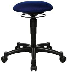 Bürohocker mit bew. Sitzfl, Durchm.xH 360x420-550 mm, höhenverstellb, royalblau