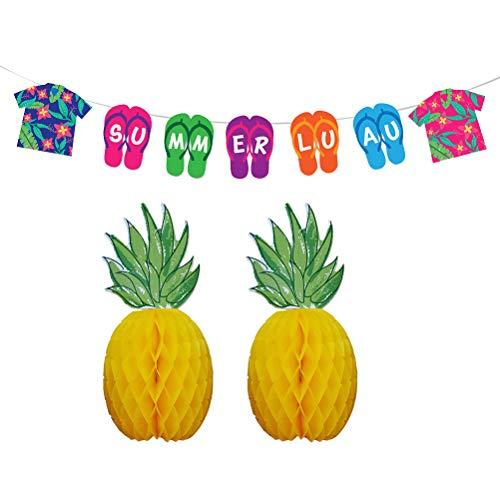 anner Ananas Bienenwaben Ball Hawaii Luau Partei begünstigt Sommer Strand Luau Party Dekoration ()