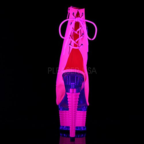 Pleaser, Stivali donna Neon H. Pink Faux Leather/H. Pink