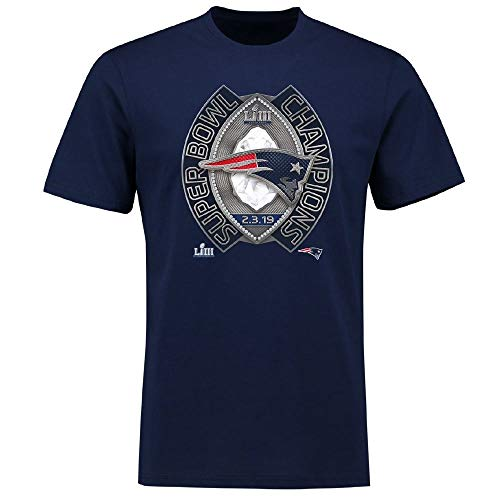 Fanatics NFL New England Patriots Super Bowl LIII Champs Ring Winners T-Shirt Large (Patriots T-shirts Super Bowl)