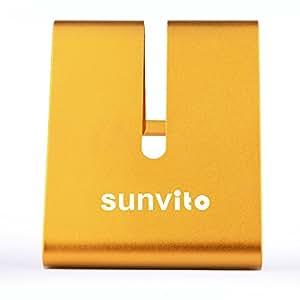 Portatile Universale Alluminio Metallo Titolare Tabella Supporto da Tavolo per iPhone Smartphone iPad Tablet (Oro)