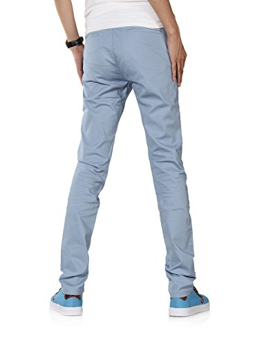 Demon&Hunter Uomo Sottile-Blu pallido Chino Pantaloni S9Y18 Blu pallido