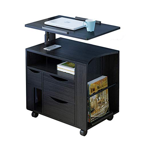 LIAN Laptop-Schreibtisch mit Kabinett, mobiler/anhebender...