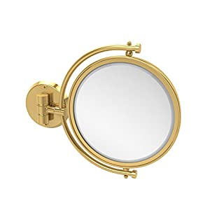Allied Brass WM-4/2X-PB 8-Inch Mirror with 2x Magnification Extends 7-Inch, Polished Brass