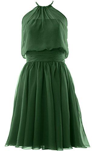 MACloth - Robe - Trapèze - Sans Manche - Femme vert foncé