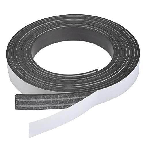 QLOUNI Magnetband selbstklebend 2mm x 15mm x 300cm Magnetklebeband schneidbare Magnetstreifen Magnetisches Klebeband