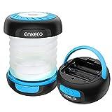 ENKEEO Camping Laterne 2-in-1 Faltbare Outdoor LED Lampe Taschenlampe Tragbare Hängelampe AA Batteriebetrieben für Abenteuer, Zelt, Notfall