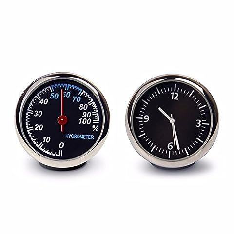 La location de voiture réveil/thermomètre/hygromètre véhicule automobile/table/Montres britannique/résistance haute température, basse température hygromètre Horloges +