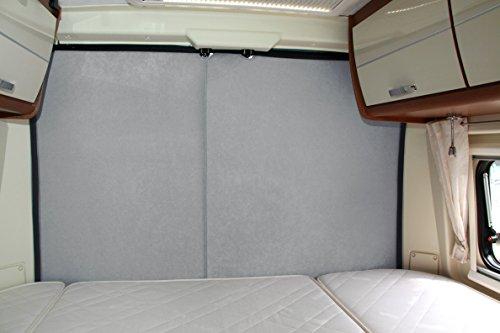 Preisvergleich Produktbild FIAT Ducto / P. Boxer Hecktür Thermo Vorhänge Paar Light Gray vc50fi0101