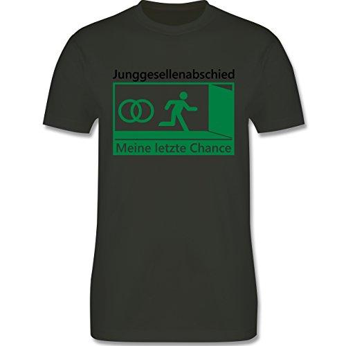 JGA Junggesellenabschied - Meine letzte Chance - Herren Premium T-Shirt  Army Grün