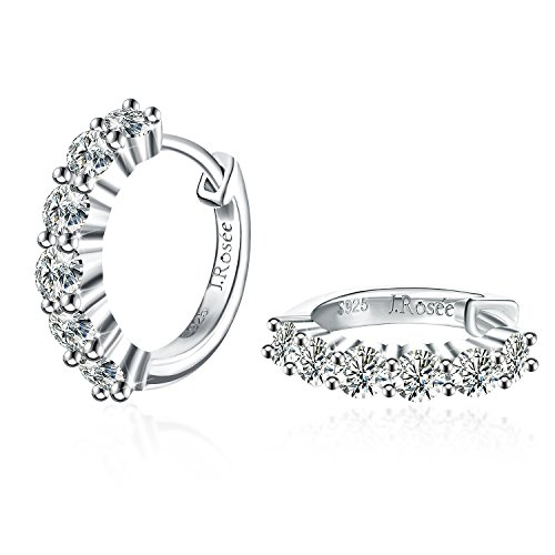 Ohrringe Damen, J.Rosée 925er Sterling Silber 5A Zirkonia Ohrringe,Halloween party supplies, Girl Christmas present, Mädchen Mutter Geburtstagsgeschenk