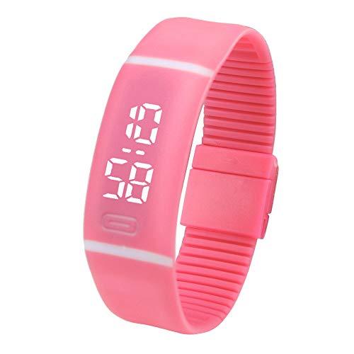 Precioul Männer und Frauen Sportuhr LED Armband Silikon Elektronische Uhr für Kinder Sport Silikon Uhr Digitale Armbanduhr