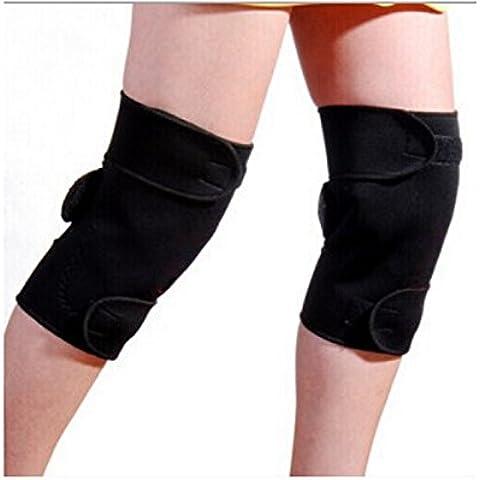 Edealing 1 nuova coppia di Tourmaline auto Riscaldamento ginocchio magnetico del gancio di sostegno Dolore Artrite