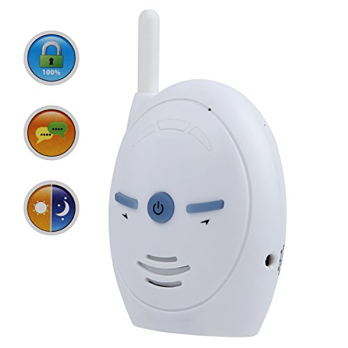 Discoball 2.4GHz Portable Digital Wireless Transmission Voice Baby Monitor Audio with Two-Way Talk Back Feature Infant Signal Function and Vox Function