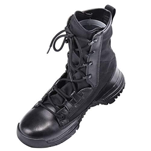 Huatime Erwachsene Kämpfe Stiefel - Patrouille Frauen Heer Taktisch Kadett Männer Sicherheit Wandern Arbeit Klassisch Militär Trekking (Vertikalen Griff Taktisches Licht)