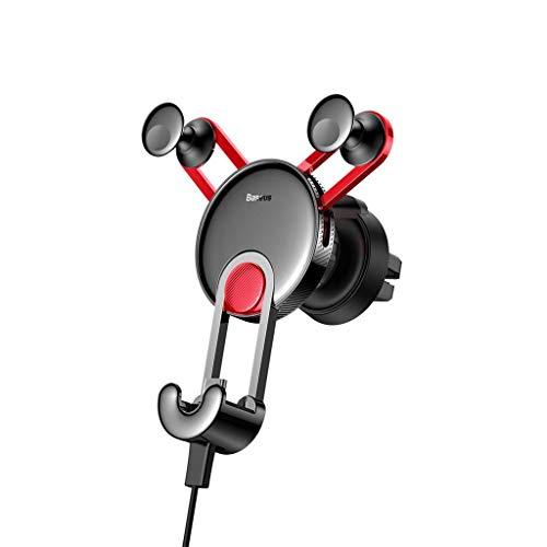 bloatboy Vollaluminium Universal Handyhalter Auto Halter Halterung, Auto Lock Telefonhalter Halterung Ständer GPS Handyhalter Halterung (Rot) - Gps-lock