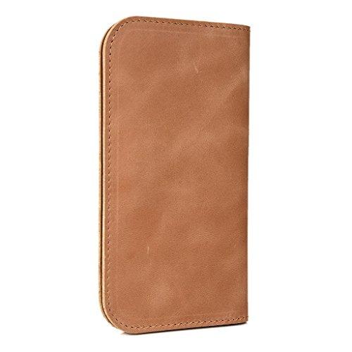 Étui en cuir type portefeuille pour allview C5Smiley Housse marron marron Canelle