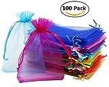 100 Stück Organzabeutel Organzasäckchen in feinster Qualität in 20 verschiedenen Farben ideal für Valentinstag Geschenkverpackung, 10 x 1 x 15 cm ; 119 g, ein Anegbot von Multismart