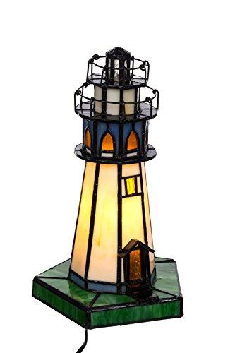 Tischlampe im Tiffany Style Leuchtturm , Tiff 130, Tischlampe Motiv Lampe , Dekorationslampe, Tiffany Style, Glaslampe, Leuchte ,Tischlampe, Stehleuchte, Stehlampe, Leuchte Lampe