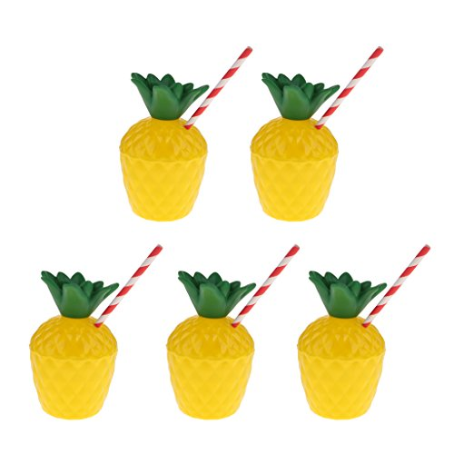 Baoblaze Hawaii Muster Trinkflasche Ananas Form Set/5pcs