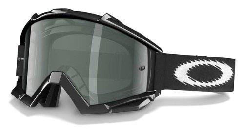 Oakley Fahrradbrille Proven MX Jet Black/Dark Grey (Ausführung: Black/Grey)