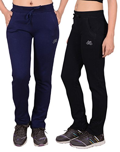 Sweekash Women's Cotton Track Pant Combo (Pack of 2)