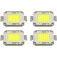 Pack 4 Piastrine LED di ricambio fari LED luce fredda 6500k da 50 watt. MWS