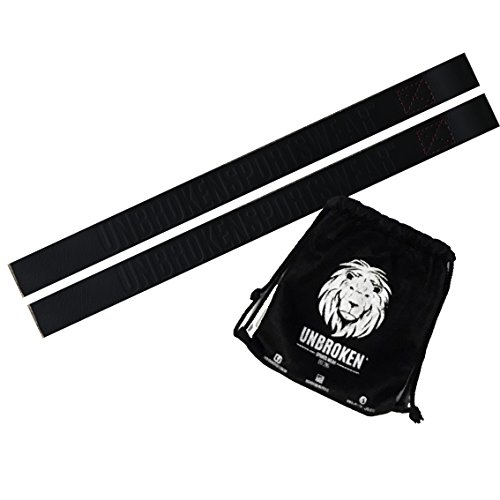 Unbroken Gewicht-Hebegurte - 100% Heavy-Duty-Leder - Power Hand Bar Straps Handgelenk-Wraps - CROSSFIT, GEWICHTHEBEN, DEADLIFTS - Krafttraining Workout Fitness Straps