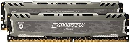 Crucial Ballistix  Sport LT BLS2K4G4D26BFSB 2666 MHz, DDR4, DRAM, Memoria Gaming per Computer Fissi, 8GB, 4GB x2, Grigio
