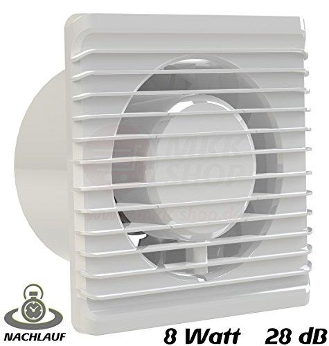 MKK-PLANET - Ventilador de baño, diámetro de 125 mm, en blanco, con...