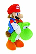 Nintendo 22cm Sanei Super Mario Bros Plush Mario and Yoshi Set