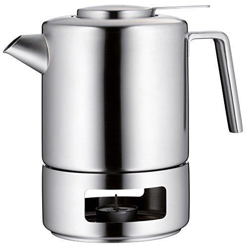 WMF Tee-Set 3t-teilig Teekanne Teesieb Stövchen Kult 1,2l Cromargan Edelstahl rostfrei mattiert