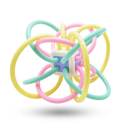 Vivir High Quality Baby Rattle Teether Ring Hand Ball Rattle Toy for Kids (Toys for Infants and Toddlers)