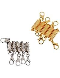 10 St/ück Schmuck Magnetverschl/üsse runde Magnetverschl/üsse f/ür Armband und Halsketten Herstellung 8 mm Durchmesser Silberfarben