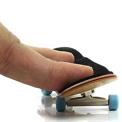 Holz Mini Griffbretter Versammlung Skateboard Scooter Fans Spielzeug Geschenk Hellblau
