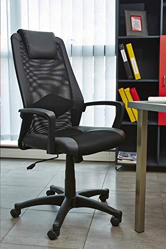 13 CASA Chaise de Bureau Lawyer 23 Noir